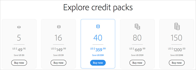 Credit Packs | Stock Photo Adviser