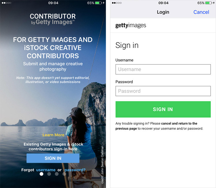 Contributor By Getty Images Mobile App | Stock Photo Adviser