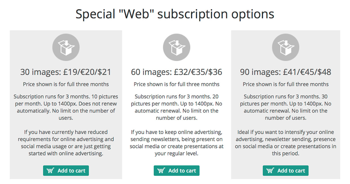 PantherMedia Special Offer | Pricing | Stock Photo Adviser