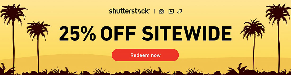 Shutterstock Coupon Code | Save 25% Sitewide